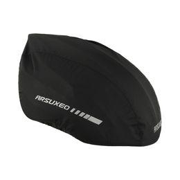 Helmet Covers UK - Arsuxeo Waterproof Bike Helmet Cover with Reflective Strip Cycling Bicycle Helmet Rain Cover Bicycle Water Snow