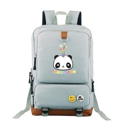 popular japanese cartoons NZ - 2018 new Japanese Anime pandacorn backpack travel shoulder bag for girls and boys students bags popular backpack