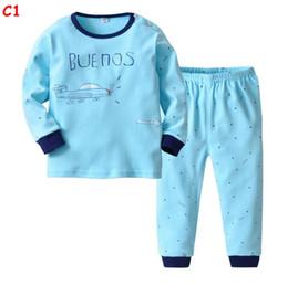 c2d8259d8118f 2 Piece Pajamas Set for Boys Girls Winter Long Sleeve Cartoon Striped Warm  Cotton Christmas Pyjamas Kids Sleepwear Children Nightwear