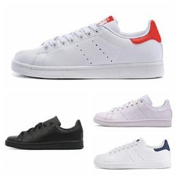 $enCountryForm.capitalKeyWord Australia - Original smith men women casual shoes green black white blue red pink silver mens stan fashion leather shoe flats sneakers