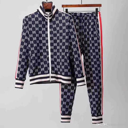 Wholesale tracksuits embroidery resale online – Fashion Designer Tracksuit Spring Autumn Casual Unisex Brand Sportswear Mens Track Suits High Quality Hoodies Mens Clothing