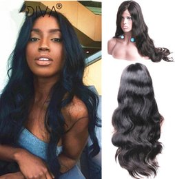 Best Color For Hair Australia - Fashion top grade glueless unprocessed virgin remy human hair long natural color big curly full lace cap wig best for women