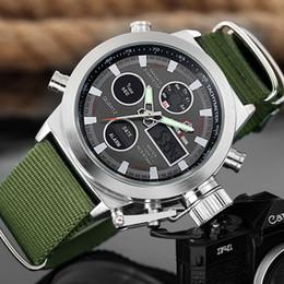 Watch Men Nylon Australia - Goldenhour Sport Men Wristwatch Fashion Men Quartz Watch Nylon Strap Week Display Army Military Led Clock Relogio Masculino Y19051302