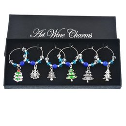 $enCountryForm.capitalKeyWord UK - endant & Drop Ornaments 6PCs Christmas Wine Charms with Box Crystal Collection Enamel Pendant Dinner Table Decoration for Home Party ...