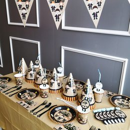 party themes decorations Australia - Harry Potter Theme Party Decoration Set Banner Table Cloth Straws Cup Plates Supplier Kids Birthday Party Decoration GGA2510