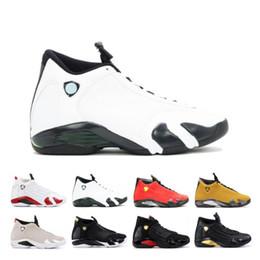 $enCountryForm.capitalKeyWord Australia - Discount 14 14s Candy Cane Black Toe Fusion Varsity Red Suede Men Basketball Shoes Last Shot Thunder Black Yellow DMP Sneakers