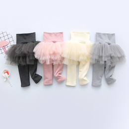 Discount pencil cake - New Arrival Newborn Clothes Infant Baby Girls Mesh Pants with Tutu Cake Skirt Leggings Cotton Pencil Trousers for Kids A