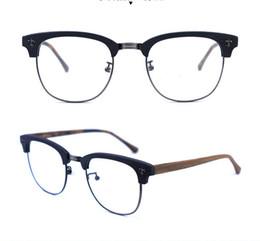 $enCountryForm.capitalKeyWord UK - Brand Japan desgin half rimless men acetate wooden pattern Spectacle frame Myopia Designer Glasses prescription clear lens eyeglass A909