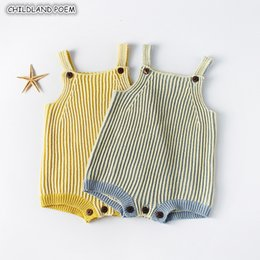 $enCountryForm.capitalKeyWord Australia - Knitted Clothes Knit Rompers for Boys Newborn Infant Jumpsuits Overalls Girl Romper New Born Baby Boy RomperMX190912