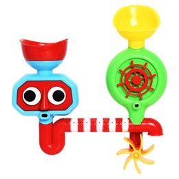 Eye Toy Play Australia - Kids Bath Toy Tub Bath Play Set Waterwheel Toys Rotate Eyes Water Flow Waterfall Shower Toy Gift For Kid Bathroom