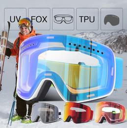 JIEPOLLY Marca Gafas de esquí Hombres Mujeres monopatín Snowboard Gafas de UV400 Esquí de la nieve de los vidrios antiniebla de la máscara de esquí Deporte de invierno 2019 en venta