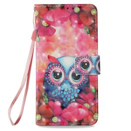 $enCountryForm.capitalKeyWord UK - Painted 3D Sequin Owl Leather Flip cover Case for iphone 6 6s 7 8 7plus 8plus x xr xs max with Credit card slot wallet shockproof