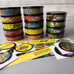 Wholesale 20 flavor Pressitin cans Moonrock and pressitin 73.3*24mm Cali pressitin tuna Tin Candry HerbTin Clear Peel Off Lid black Cover Smell proof