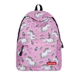 $enCountryForm.capitalKeyWord UK - Free DHL Kids Girls Unicorn Backpacks 2019 Children School Bags Rucksack Lightweight Canvas Daypacks Bookbags with Bottle Side Pockets M196F