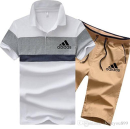 $enCountryForm.capitalKeyWord NZ - Tracksuit Man Sets Pants Summer New Men's Cropped T Shirt Shorts Casual Suits Sportswear Mens Clothing Male sweatshirt Brand