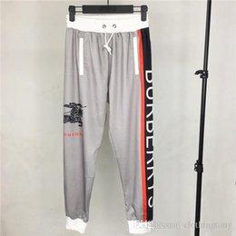 $enCountryForm.capitalKeyWord Australia - 19ss Paris BBR Ice Cotton Long Pants elastic waist track Thin Trousers Men Women fashion sport Jogger Sweatpants Outdoor Pants