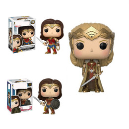 $enCountryForm.capitalKeyWord NZ - Funko POP DC Justice League Wonder Woman Collection Model Movie Action Figure Collectible toys PVC for Children Birthday Gift