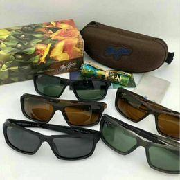 ce2a320df3a Brand designer maui jim sunglasses mj412 rimless 412 Uv protection luxury  men women driving outdoor polarized sunglasses with mj case