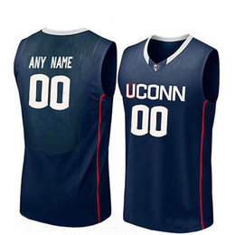 f34b00530d0 Customize Youth Connecticut Huskies Navy Blue Kemba Walker White Ray Allen  Eric Cobb Stitched College Basketball Jersey