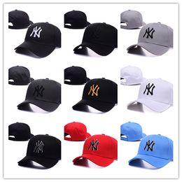 60132b98c6d6a Gorra de béisbol NY Bordado Letra Sombreros para el sol Ajustable Snapback  Hip Hop Sombrero de moda Moda Hombres Hombres Turismo al aire libre Casual  Caps ...