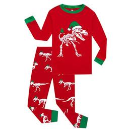 Pajamas For Boys Sleepwear Dinosaur Pajama Set 2pcs Long Sleeve Tee    Bottom Kid Girls Pyjamas Sets Cotton Pjs Toddler 2-8T Gift 1a8d2e73f