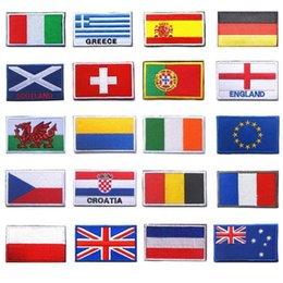 8 cm x 5 cm Bandiera europea Ucraina UE Repubblica Ceca Irlanda Croazia Scozia Russia Patch bandiera 3D Patch per giacca Jean abbigliamento