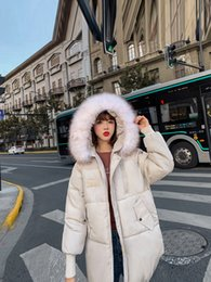 Fire clothing online shopping - Back Season Cotton padded Clothes Woman Bread Serve Easy Down Cotton Winter Loose Coat Woman Tide Ins Exceed Fire