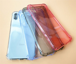 ultra thin clear case 2019 - Clear TPU Cell Phone Case Ultra-thin For iPhone Xs-Max 6 7 8plus XR 0.8mm 1mm 1.5mm Thick Airbag Anti-fall Case DHL disc