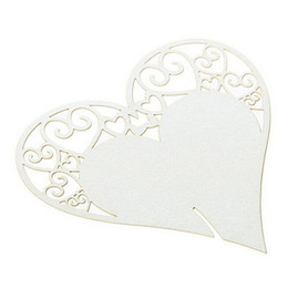 table place settings Australia - 50pcs set Wedding Table Decoration Place Cards Laser Cut Heart Floral Wine Glass Place Cards For Wedding Party Decoration