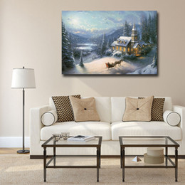 $enCountryForm.capitalKeyWord Australia - Sunday Evening Sleigh Ride By Thomas Kinkade Canvas Painting Print Living Room Home Decor Modern Wall Art Oil Painting Poster