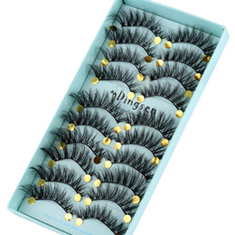 $enCountryForm.capitalKeyWord Australia - 10 Pairs Handmade 3d Soft Hair False Eyelashes Crisscross fashion Lashes Extension Eye Makeup Tools #3d-71
