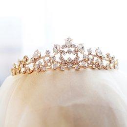 $enCountryForm.capitalKeyWord NZ - Luxury 2019 Wedding Bridal Tiara Rose Gold Color Rhinestone Head Pieces Crystal Bridal Headbands Hair Accessories for Evening