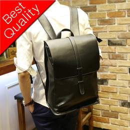 $enCountryForm.capitalKeyWord NZ - Men PU Leather Backpack For Laptop Male Business Mochilas Couro Masculina Motorcycle Back Pack Travel Rucksack School Book Bag