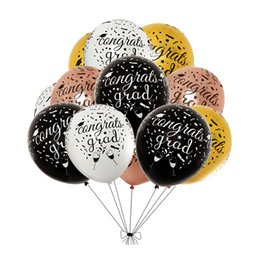 $enCountryForm.capitalKeyWord UK - 12inch Graduation Season Round Letter Balloon 2.8 grams Thick Full Flower Printing Latex Balloon Decorations Party 50pcs set