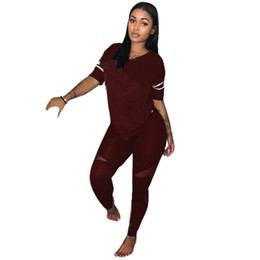 $enCountryForm.capitalKeyWord UK - hot Fashion Spring Women Pink Tracksuits Casual Short Sleeve Two-piece Jogger Set Ladies Fall Tracksuit Sweat Suits 7 color