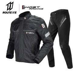 $enCountryForm.capitalKeyWord Australia - GHOST RACING Summer Motorcycle Jacket Men Breathable Mesh Riding Moto Jacket Motorcycle Body Armor Protector Moto Cross Suits