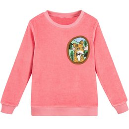 $enCountryForm.capitalKeyWord UK - Jumping Meters Baby Boys Sweatshirt Christmas Girls Tops Children Clothing Velour Fox Hoodie Girls Winter Clothes Kids T