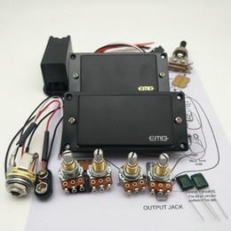 Vente en gros EMG 81/85 Micro actif Humbucker pour guitare électrique avec accessoires de montage du potentiomètre 25K + Dessins d'installation
