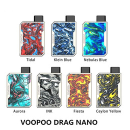 China Voopoo Drag Nano Pod Kit 750mAh Mod Style with 1ml Refillable Empty Vape Cartridges 7 Resin Colors 100% Original suppliers