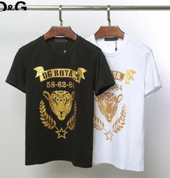 Mens Black White Leopard Shirts Australia - Dolces and Gabbanas mens Brand luxury t shirt hot stamping leopard print t-shirts casual comfort high quality shirts black white arrival tee