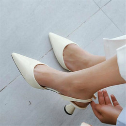 $enCountryForm.capitalKeyWord NZ - Dropshipping 2019 Woman High Heels Shoes Ladies Sexy Pointed Toe Pumps Buckle Heels Dress Wedding Shoes Black White Pink