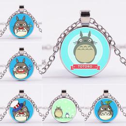 $enCountryForm.capitalKeyWord Australia - Hayao Miyazaki Totoro Necklace Silver Glass Cabochon Necklace Pendants Kids Fashion Jewelry Will and Sandy Drop Shipping