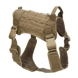 Molle vest gear online shopping - High Quantity Colors K9 Tactical Training Dog Harness Adjustable Molle D Nylon Waterproof Vest Dog Apparel M L XL Outdoor Gear M85F