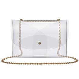 Clear Clutch Bag Australia - Clear Bag Women'S Pvc Transparent Crossbody Purse Clutch Messenger Handbag Tote Shoulder Bag