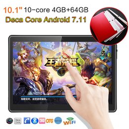10.1 '' Tablet PC Android 7.11 Deca Core 64GB 10 pollici HD WIFI 2 SIM 4G Phablet