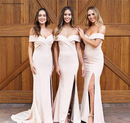 $enCountryForm.capitalKeyWord UK - New Design Off Shoulder Bridesmaid Dresses 2019 Mermaid Summer Country Garden Formal Wedding Party Guest Maid of Honor