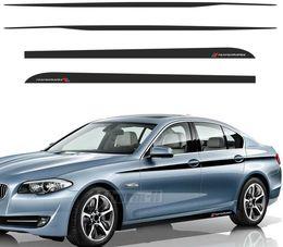 $enCountryForm.capitalKeyWord NZ - Car Styling M Performance Accent Side Stripes Decals Side Skirt Waistline Vinyl Decal Stickers for BMW F10 F11 5 Series #
