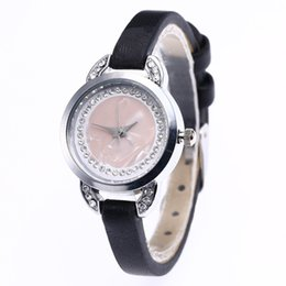 Cheap Black Diamond Watch UK - With Diamonds Pretty Hot Sale Slim Leather Band Watch For Women Quartz Munimalist Cheap Women Dress Watch