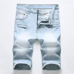 $enCountryForm.capitalKeyWord Australia - Brand New Designer Wrinkled Jeans Men Summer Style Patchwork Mens Short Pants Denim Pants Casual Mens Short Plus Size 28-40