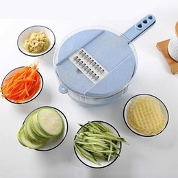 $enCountryForm.capitalKeyWord Australia - New Arrive 10pcs Potato Slicer Vegetable Slicer Potato Peeler Carrot Onion Grater With Strainer Vegetable Cutter 8 In 1 Kitchen Accessories